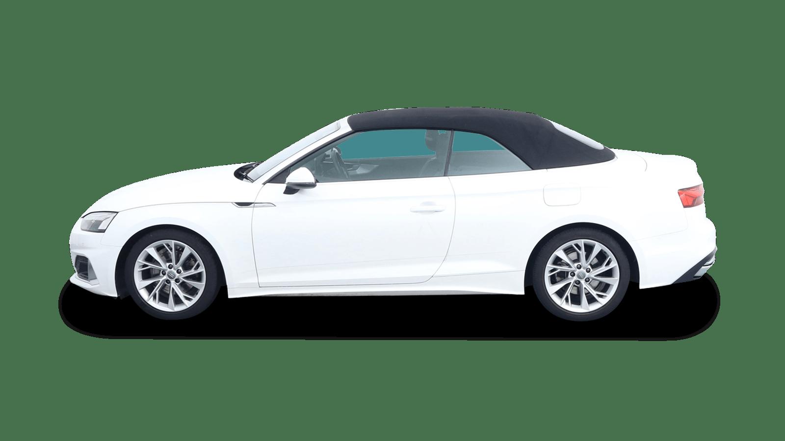 Audi A5 Cabriolet Weiss rückansicht - Clyde Auto-Abo
