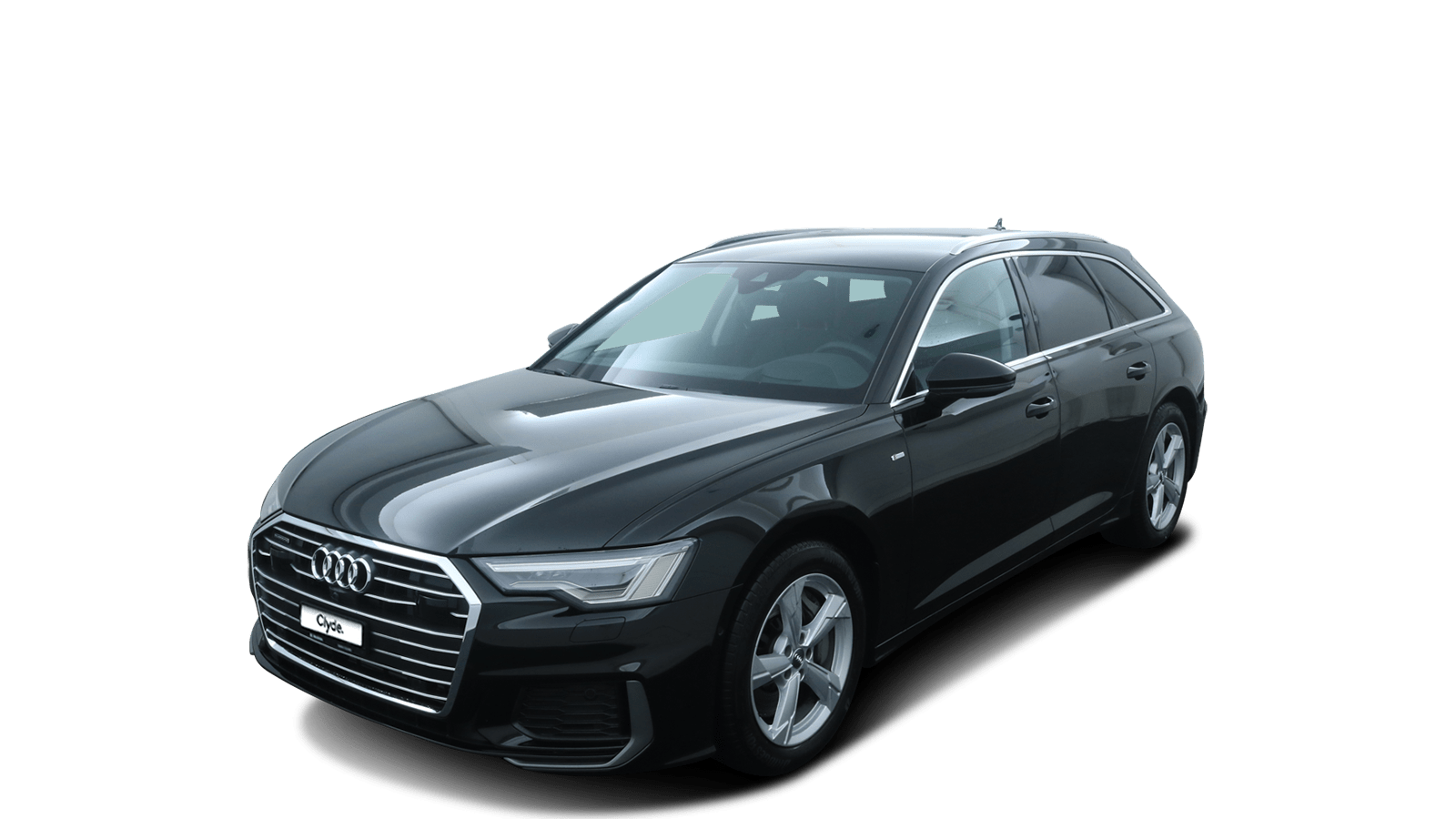 Audi A6 Avant Black front - Clyde car subscription