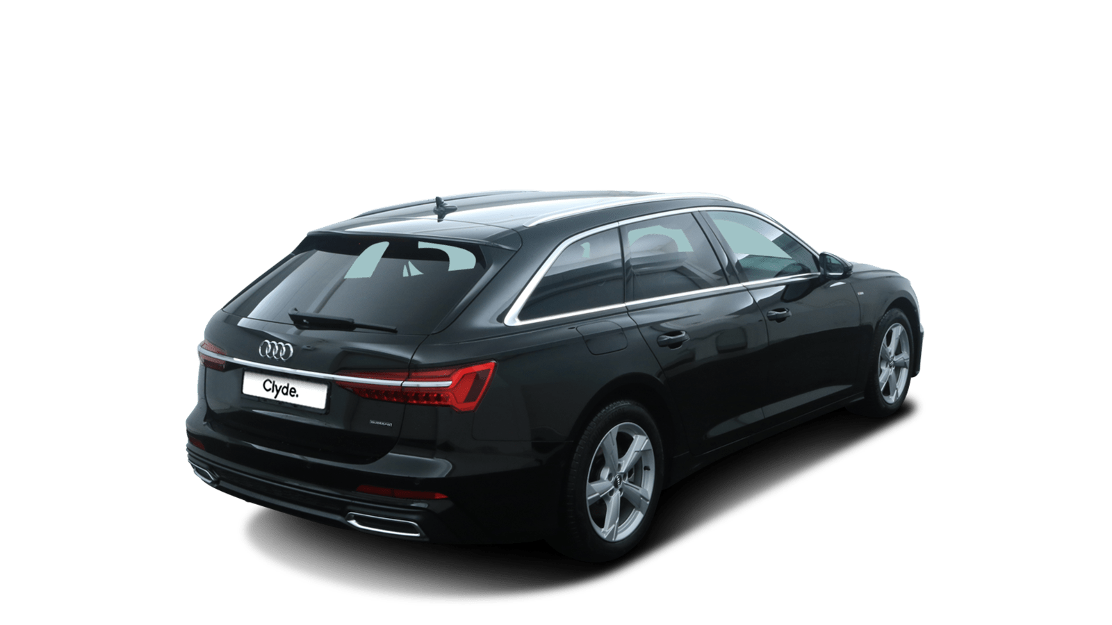 Audi A6 Avant Black back - Clyde car subscription