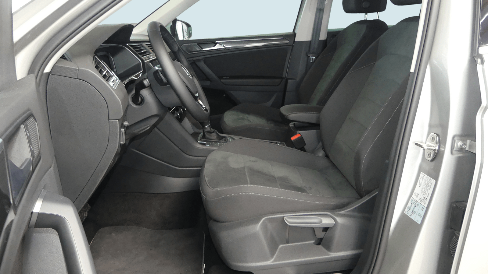 VW Tiguan Silver interior - Clyde car subscription