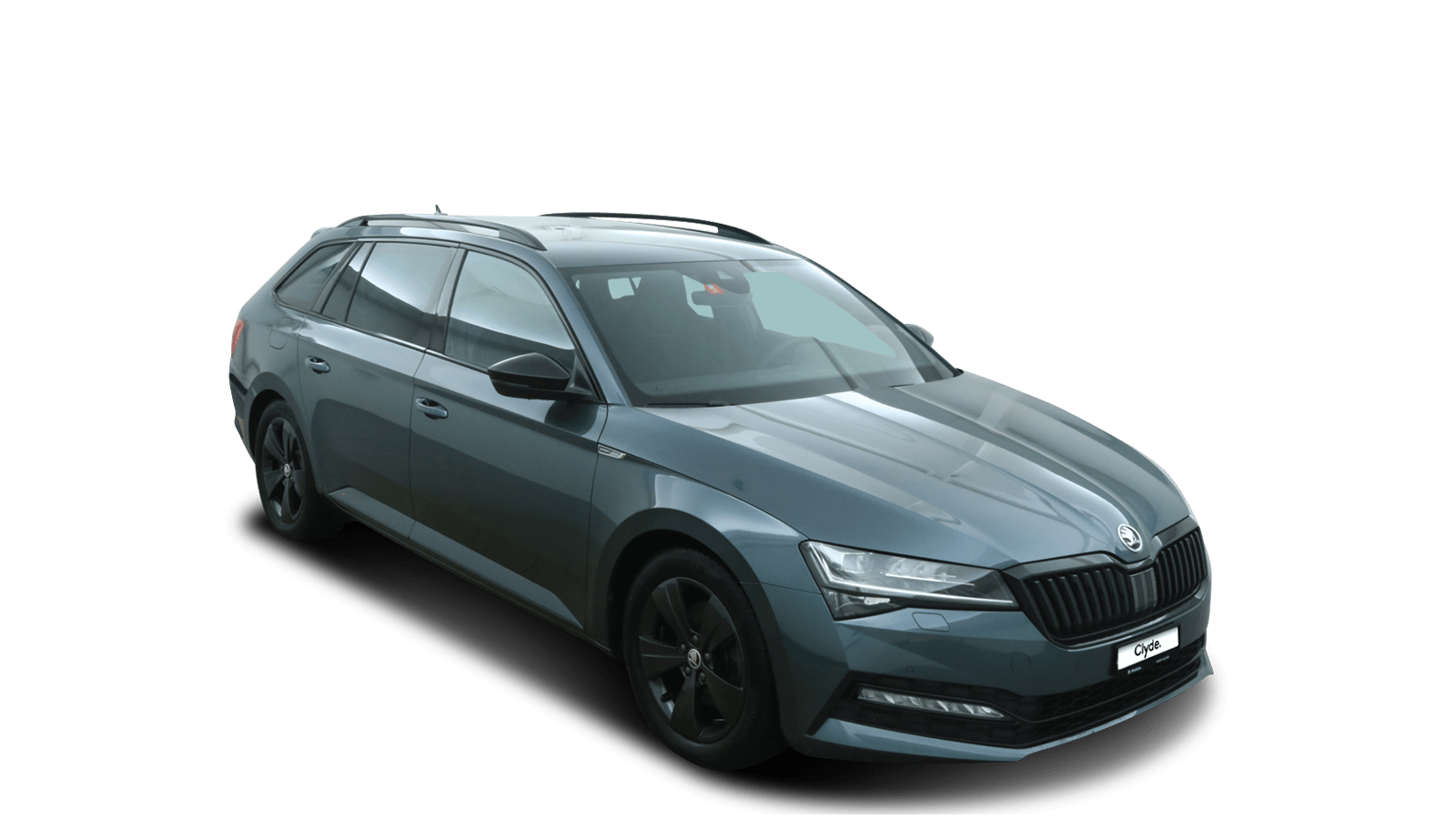 ŠKODA Superb Grey front - Clyde car subscription