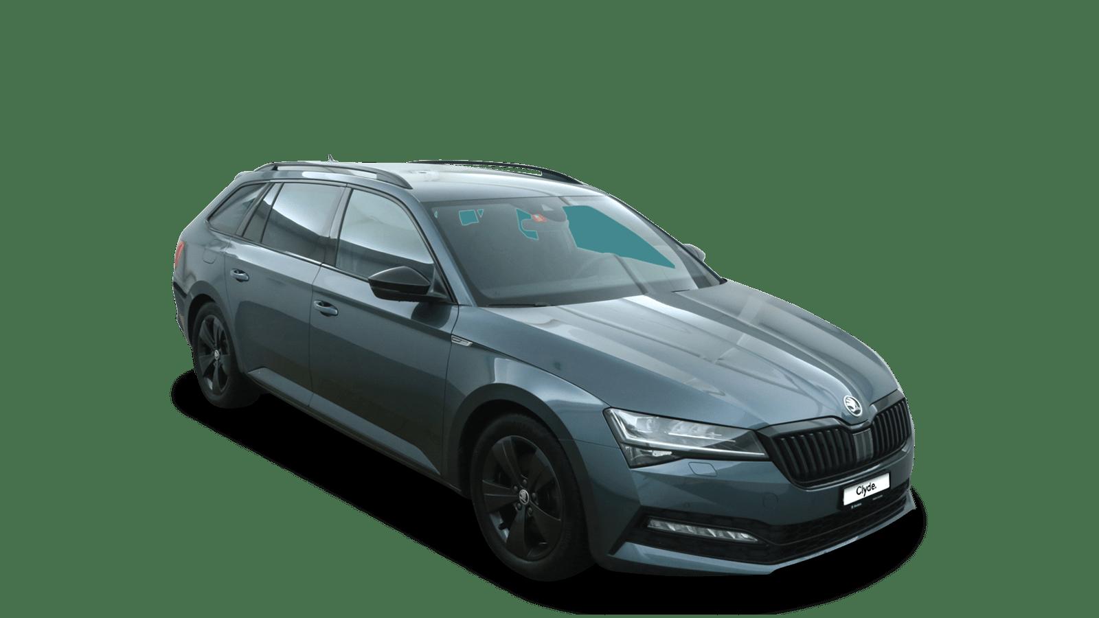 ŠKODA Superb Grau front - Clyde Auto-Abo