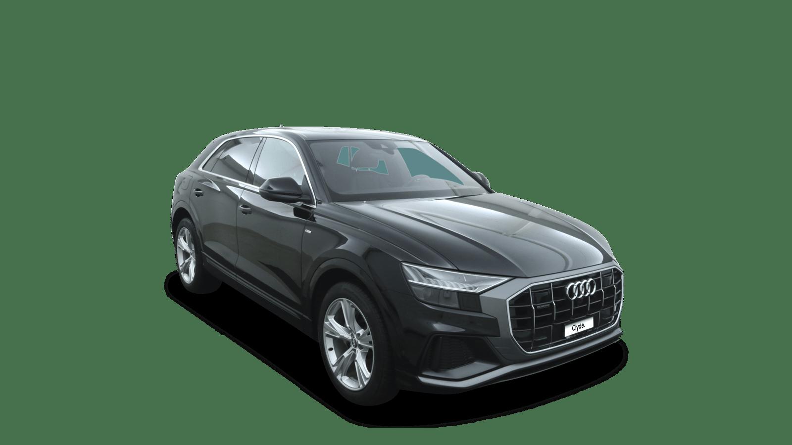 Audi Q8 Black front - Clyde car subscription