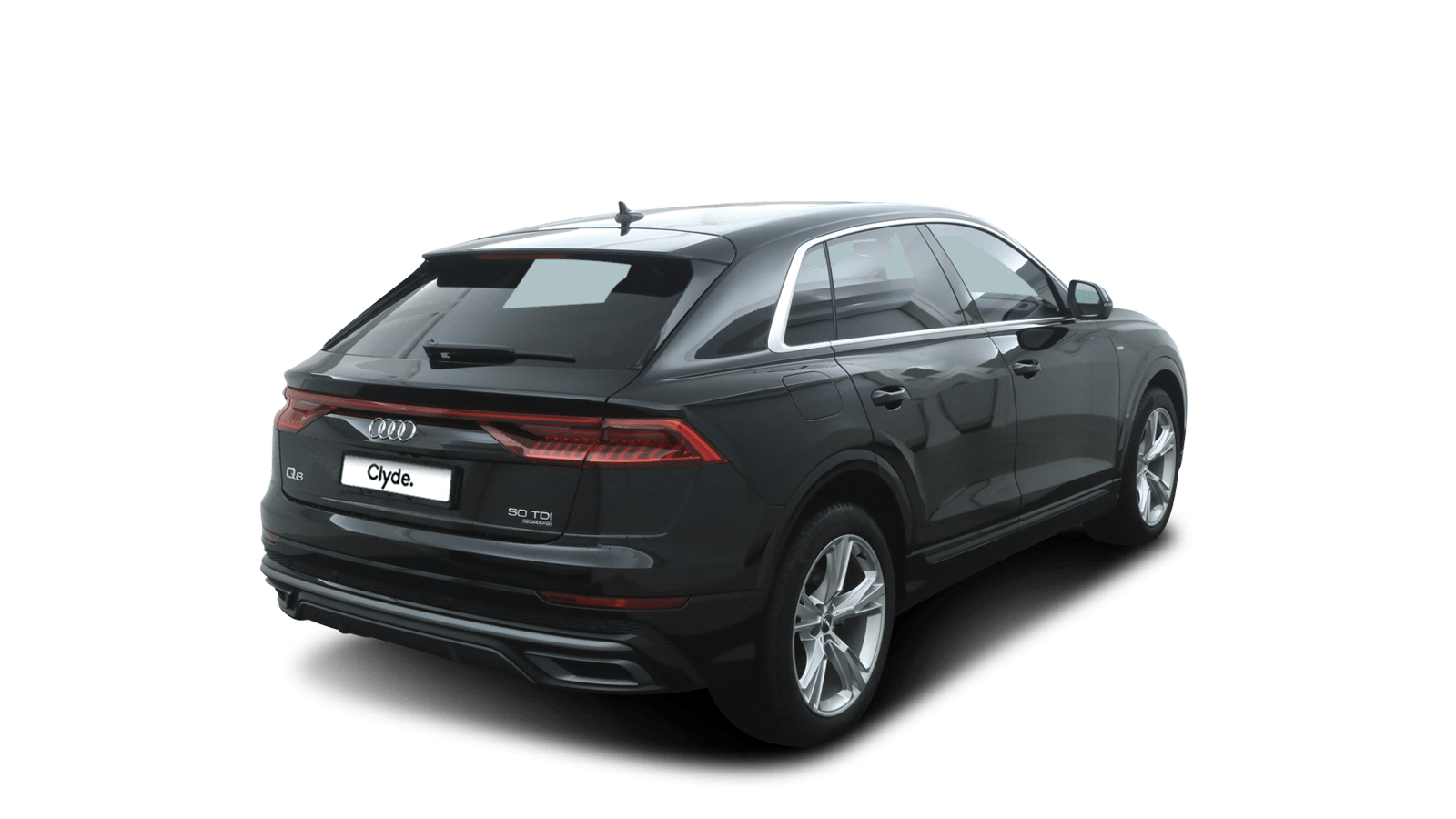 Audi Q8 Black back - Clyde car subscription