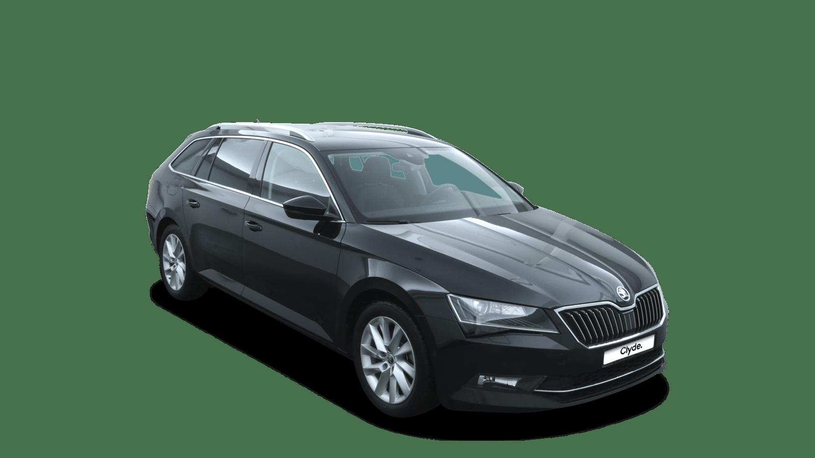 ŠKODA Superb Black front - Clyde car subscription