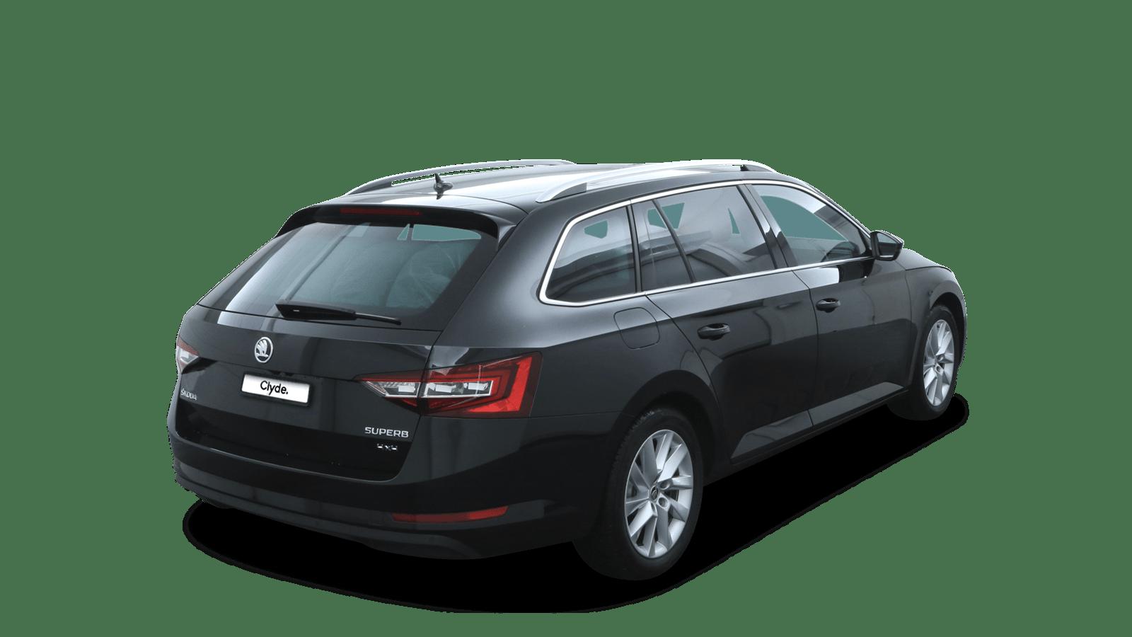 ŠKODA Superb Black back - Clyde car subscription