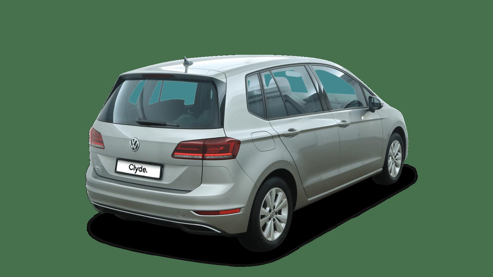 VW Golf Sportsvan Silber rückansicht - Clyde Auto-Abo