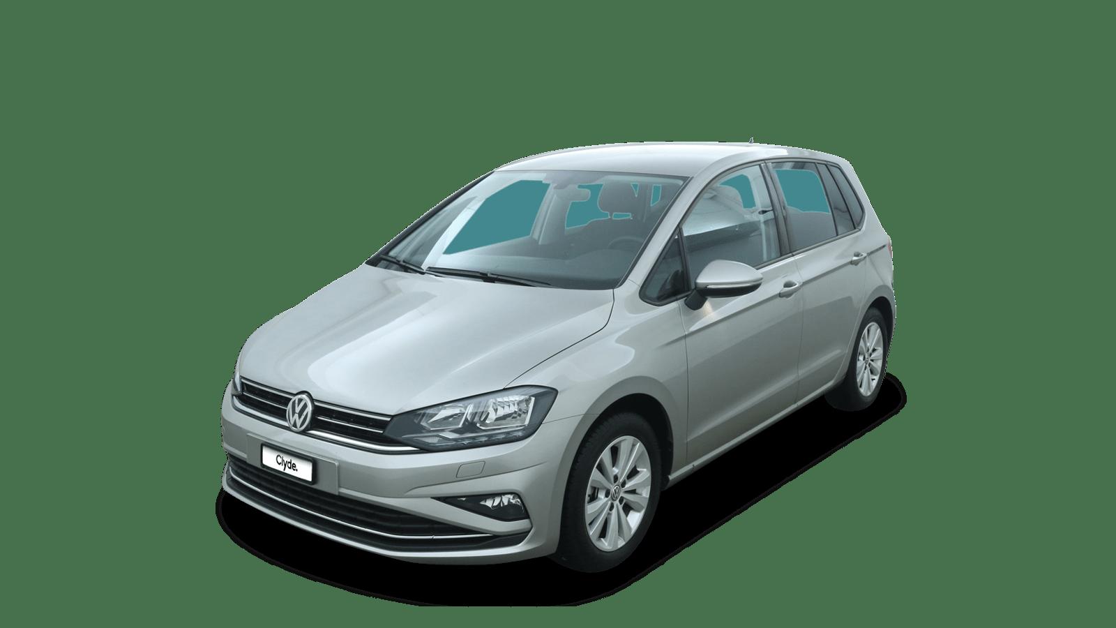 VW Golf Sportsvan Silber front - Clyde Auto-Abo