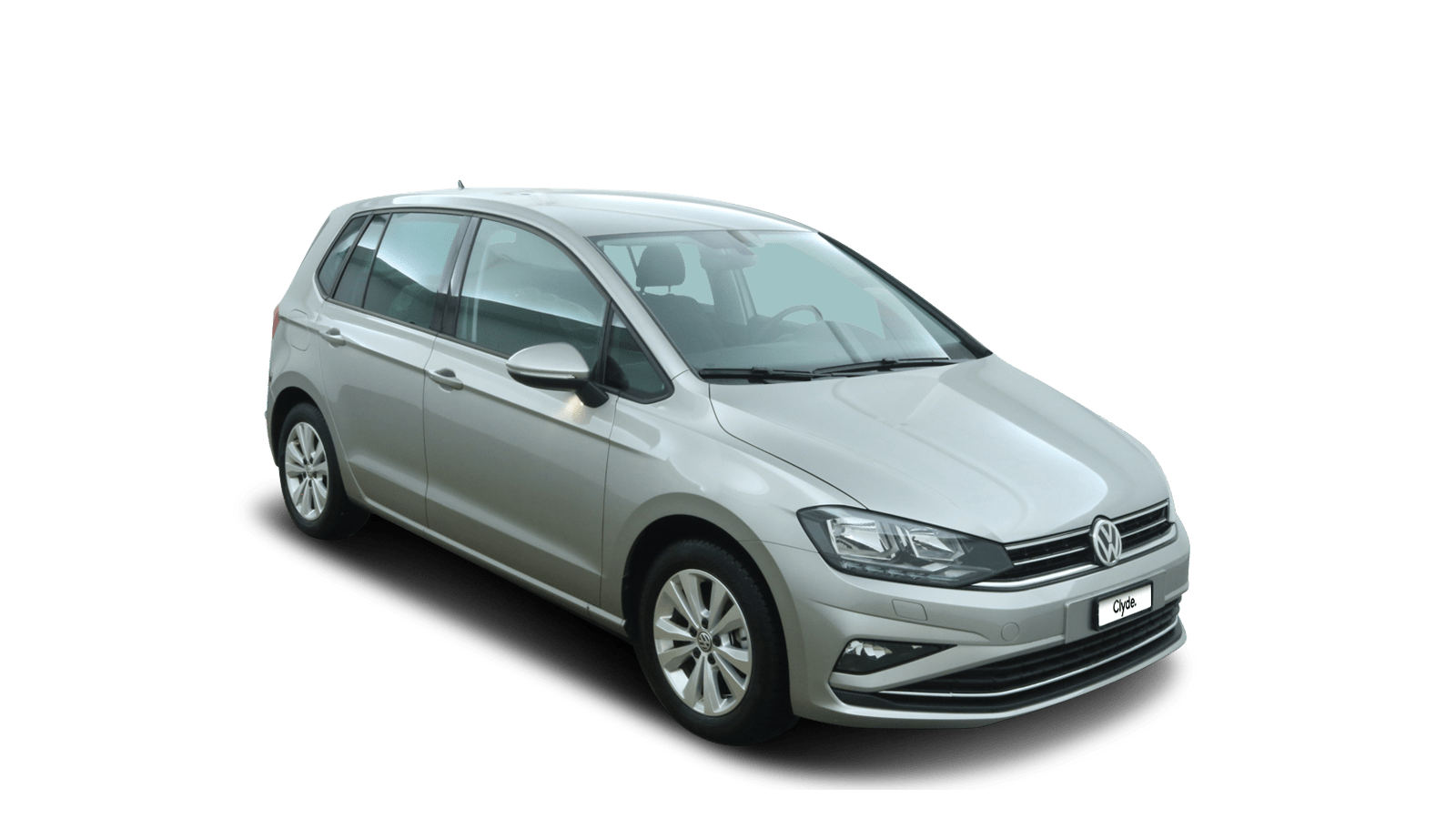 VW Golf Sportsvan Silver front - Clyde car subscription
