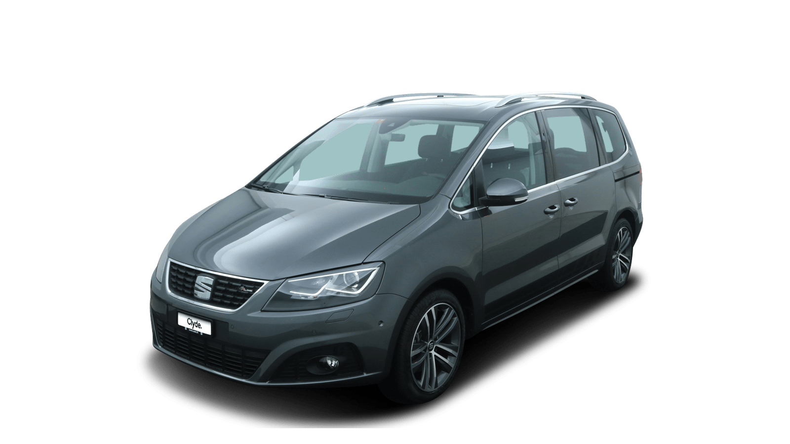 SEAT Alhambra Grey front - Clyde car subscription