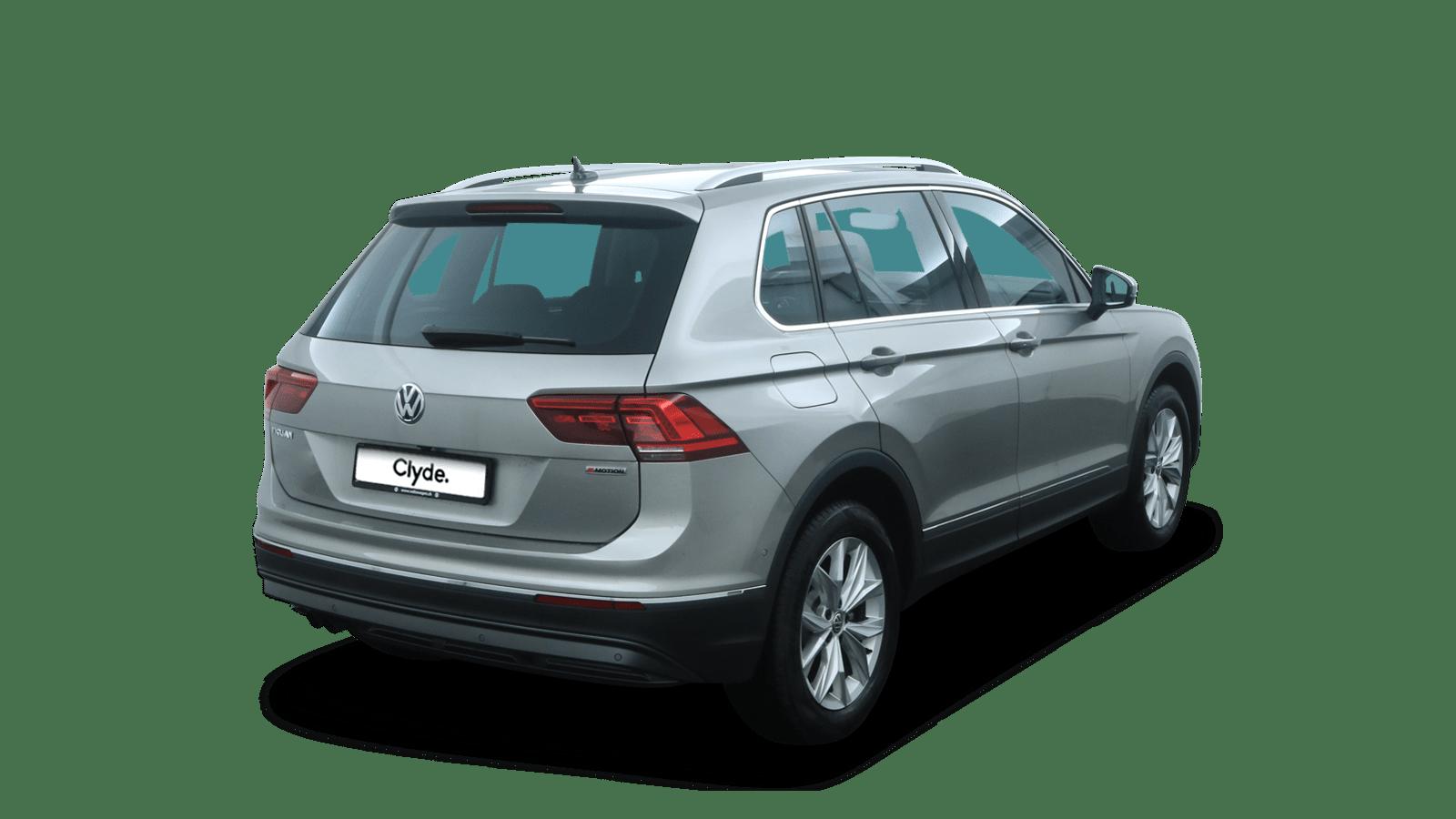 VW Tiguan Silber rückansicht - Clyde Auto-Abo
