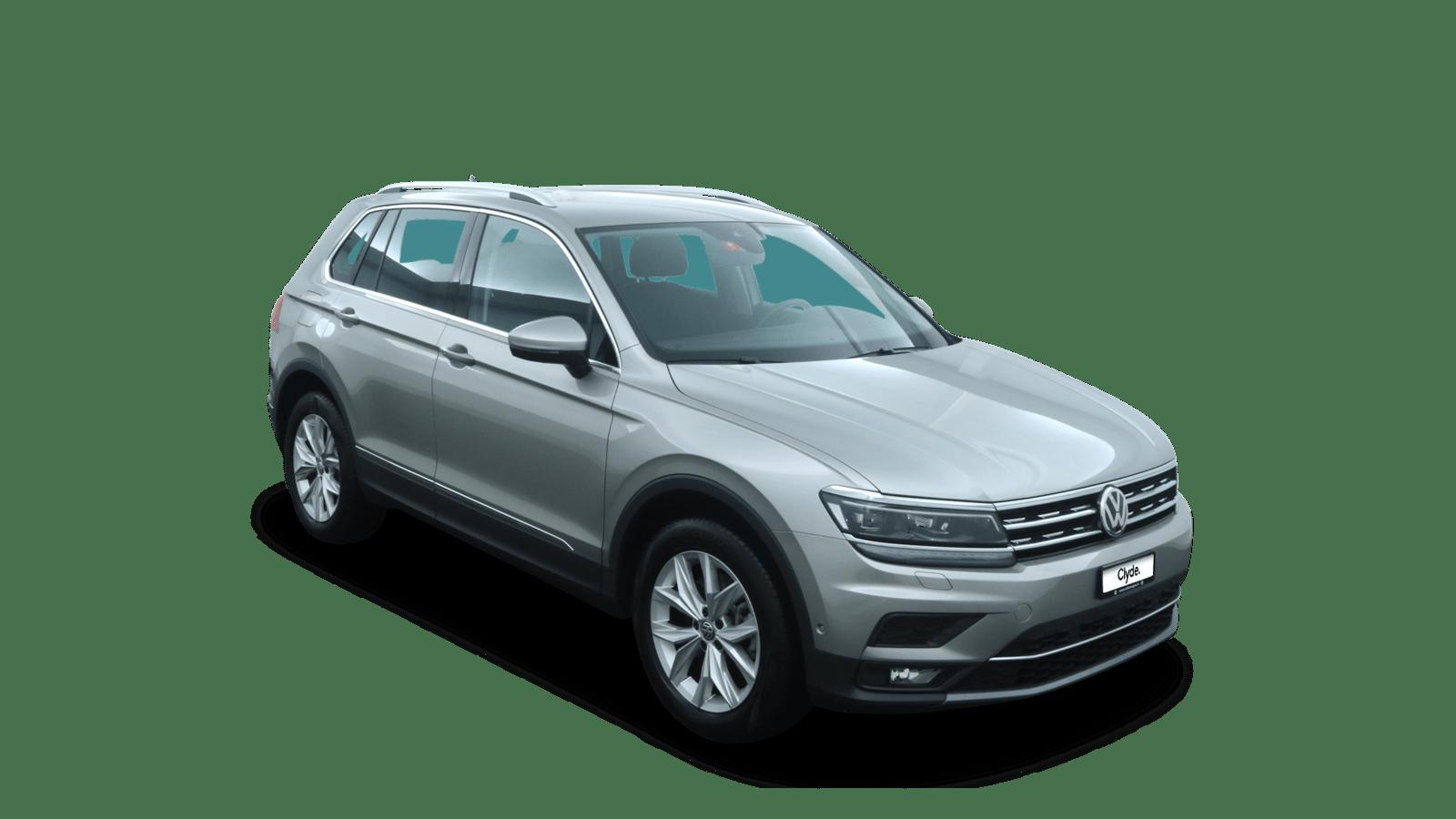 VW Tiguan Silber front - Clyde Auto-Abo