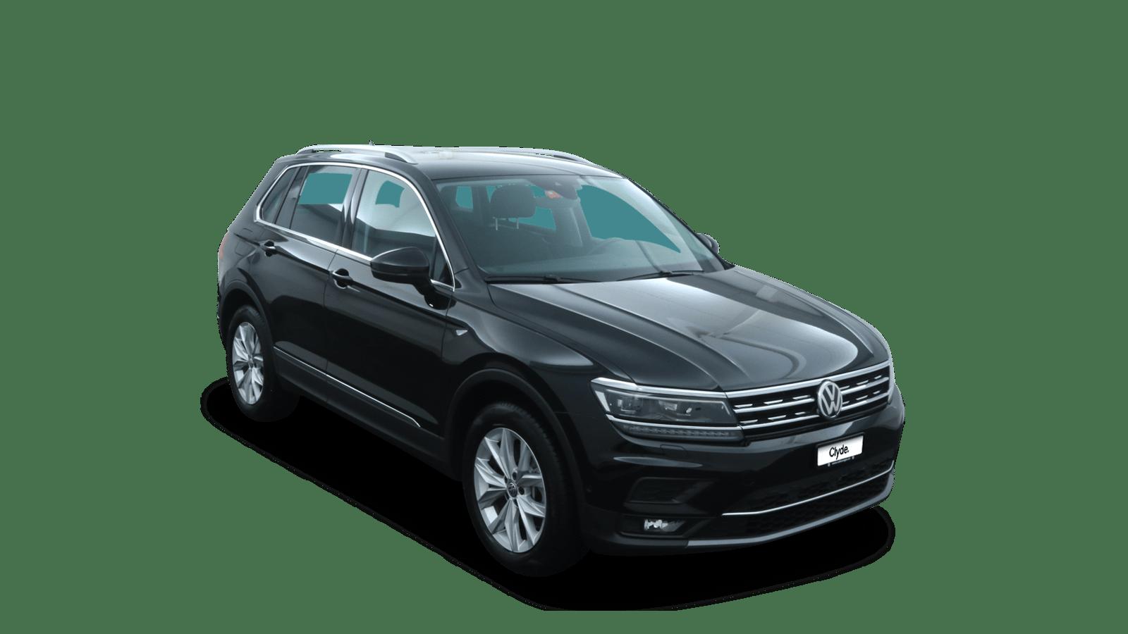 VW Tiguan Schwarz front - Clyde Auto-Abo