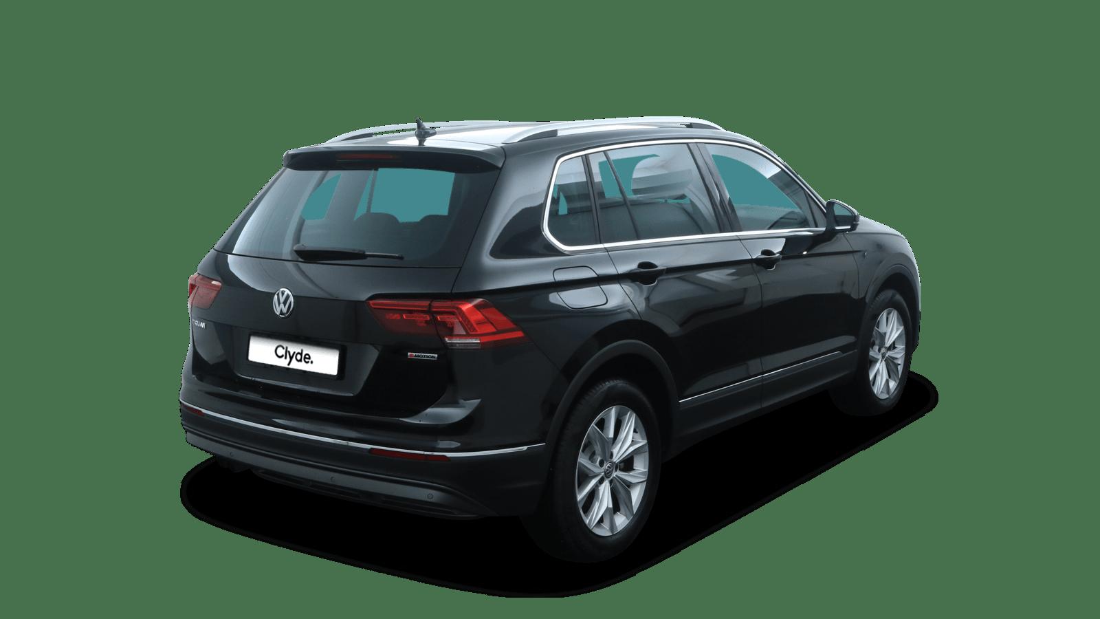 VW Tiguan Schwarz rückansicht - Clyde Auto-Abo