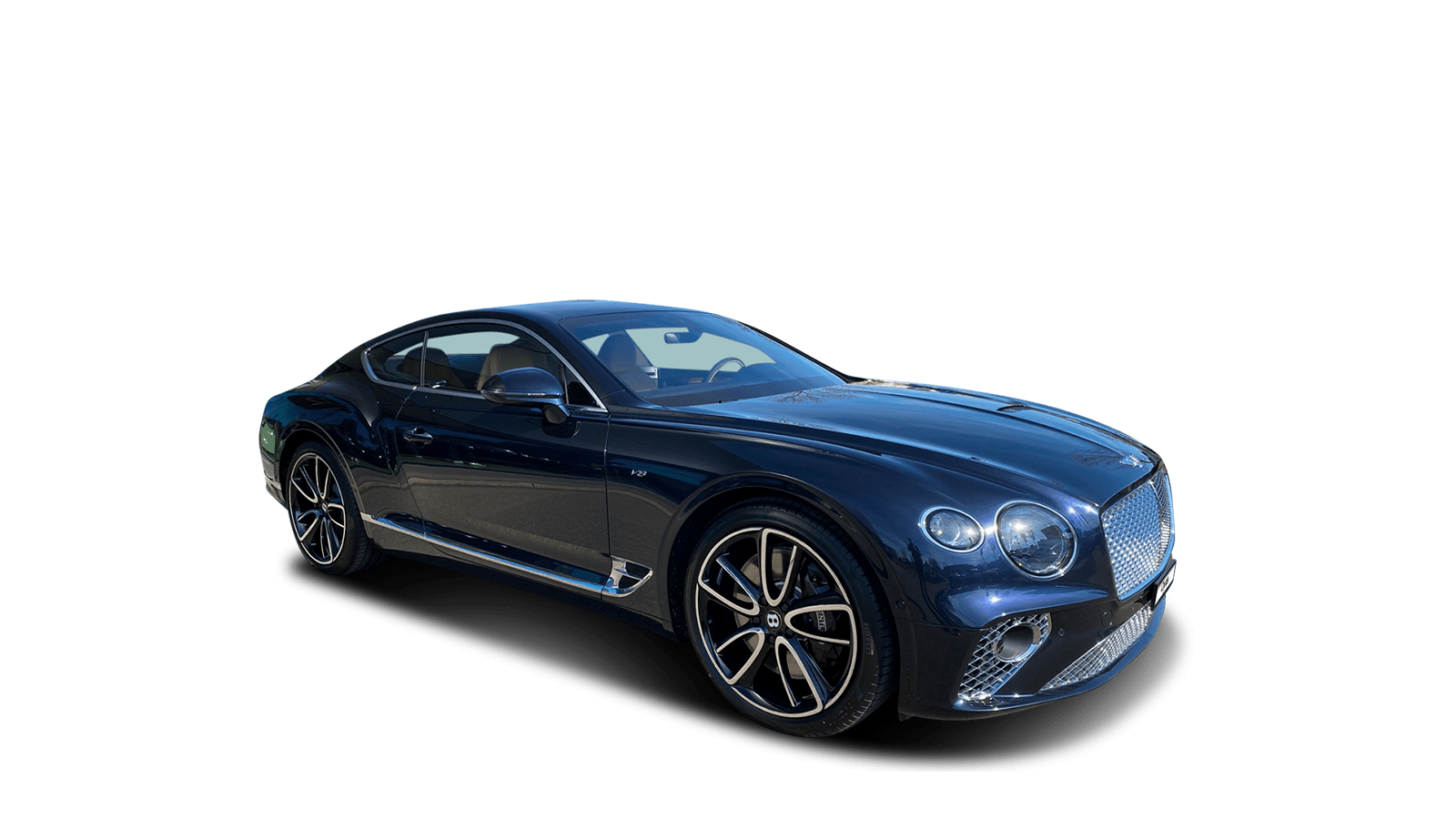 Bentley Continental GT V8 Blue front - Clyde car subscription