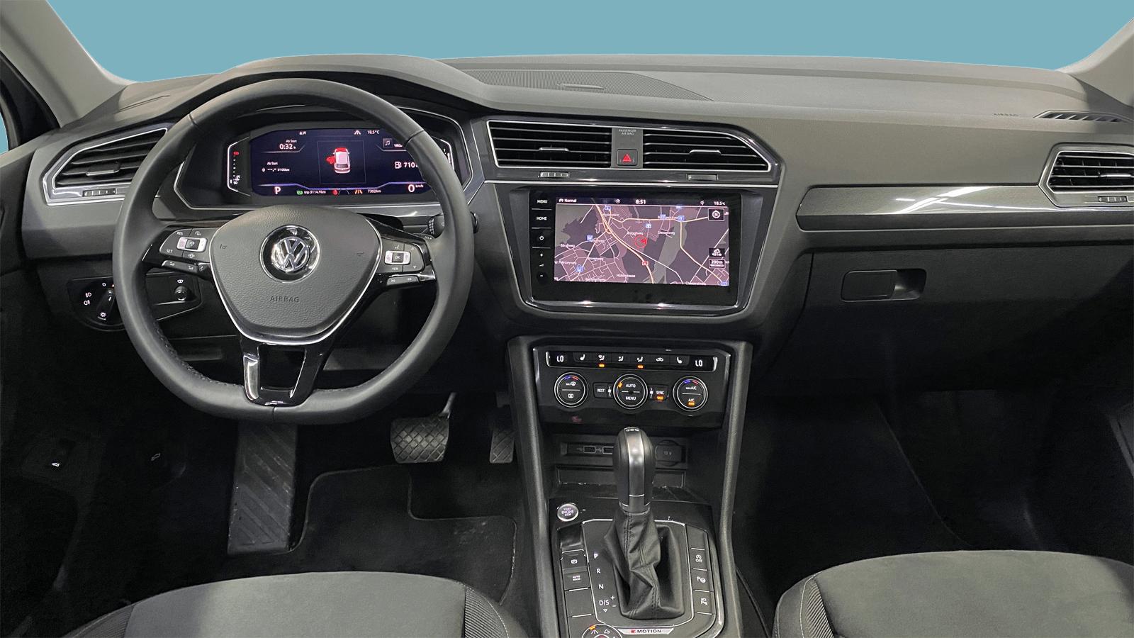 VW Tiguan Black interior - Clyde car subscription