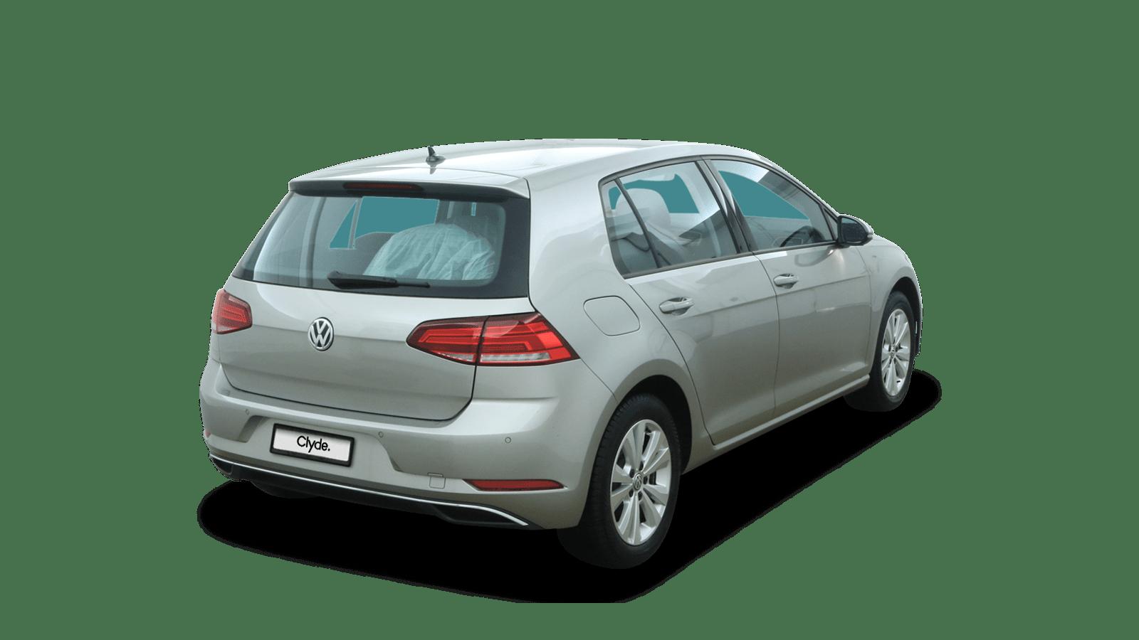VW Golf Silber rückansicht - Clyde Auto-Abo