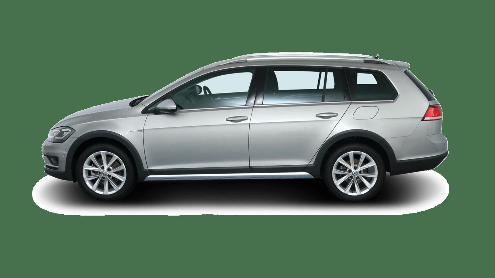 VW Golf Variant Alltrack Silber rückansicht - Clyde Auto-Abo