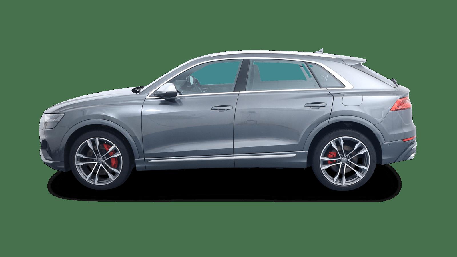 Audi SQ8 Grau rückansicht - Clyde Auto-Abo