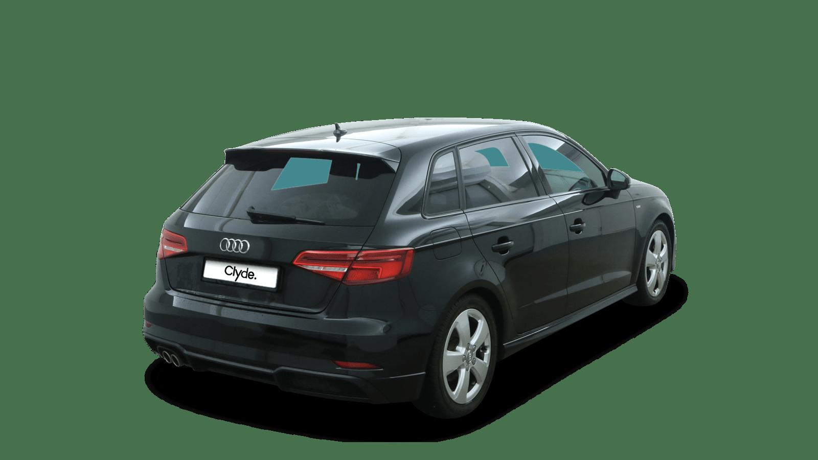 Audi A3 Sportback Black back - Clyde car subscription