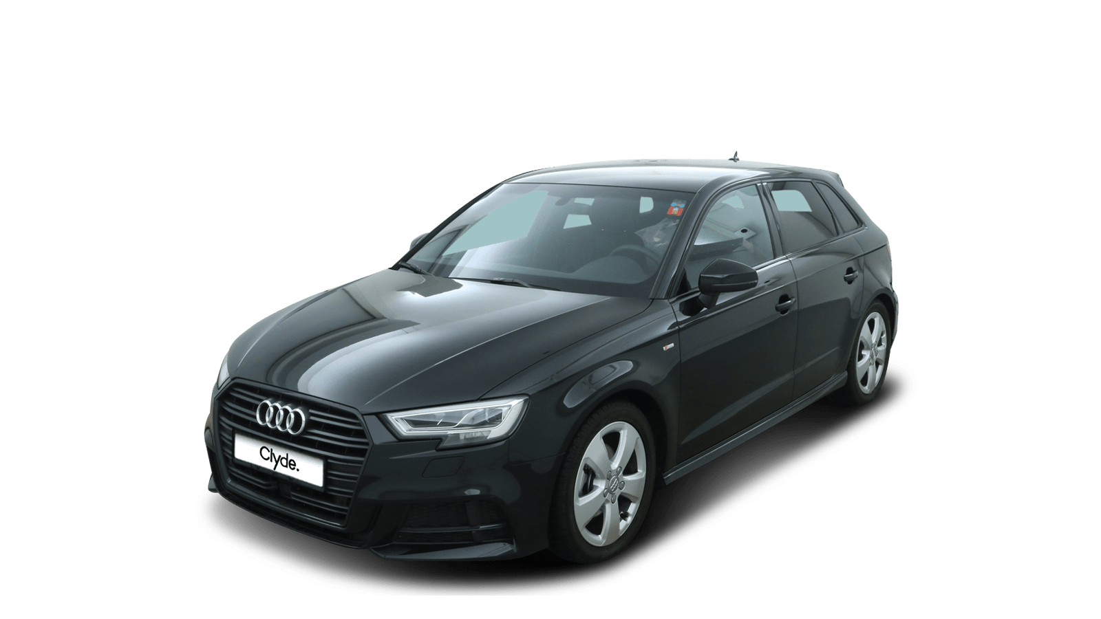 Audi A3 Sportback Black front - Clyde car subscription