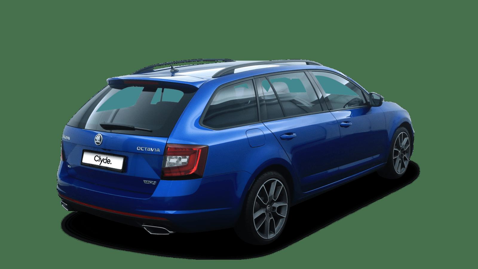 ŠKODA Octavia Combi RS Blue back - Clyde car subscription