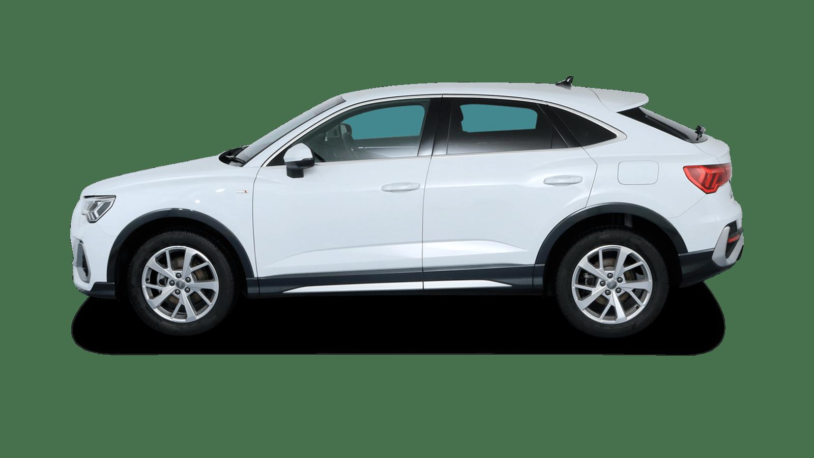 Audi Q3 Sportback White back - Clyde car subscription