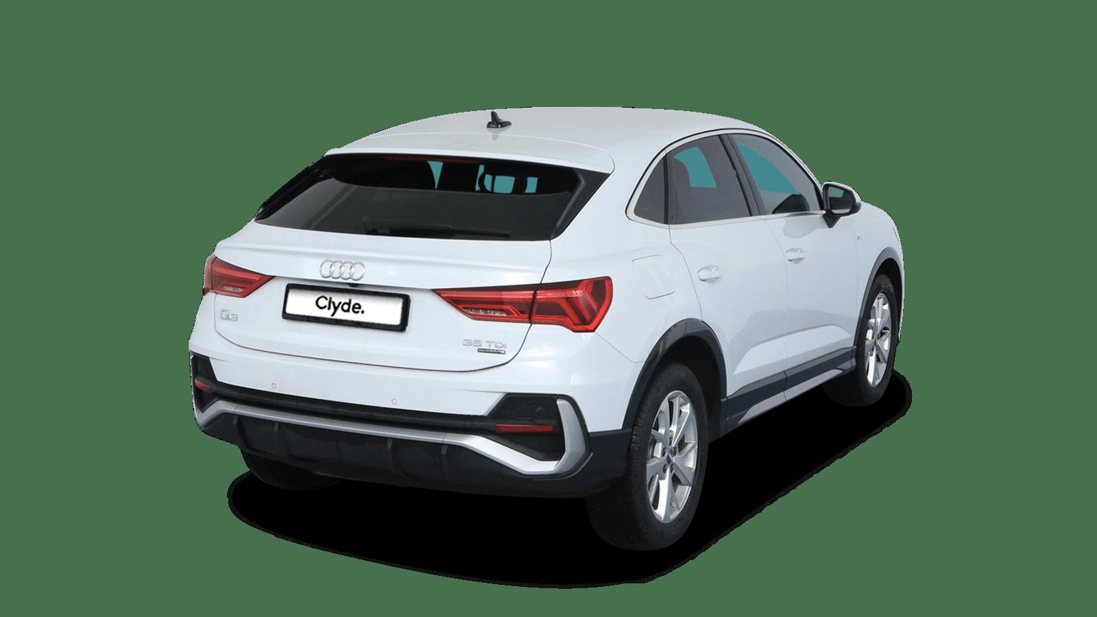 Audi Q3 Sportback White front - Clyde car subscription