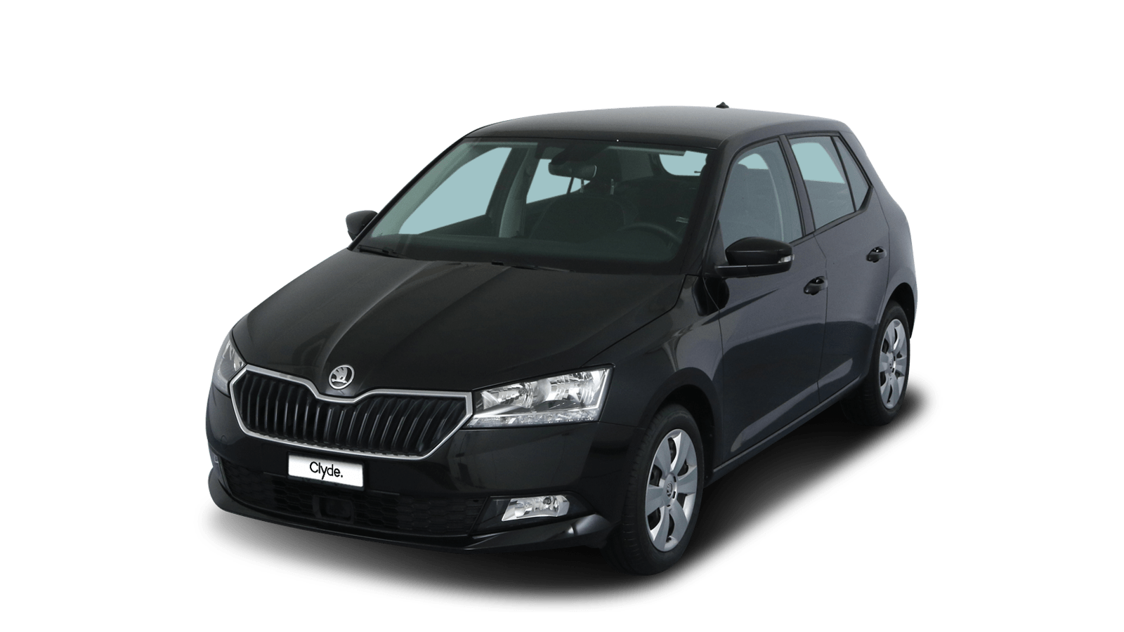 ŠKODA Fabia Black front - Clyde car subscription