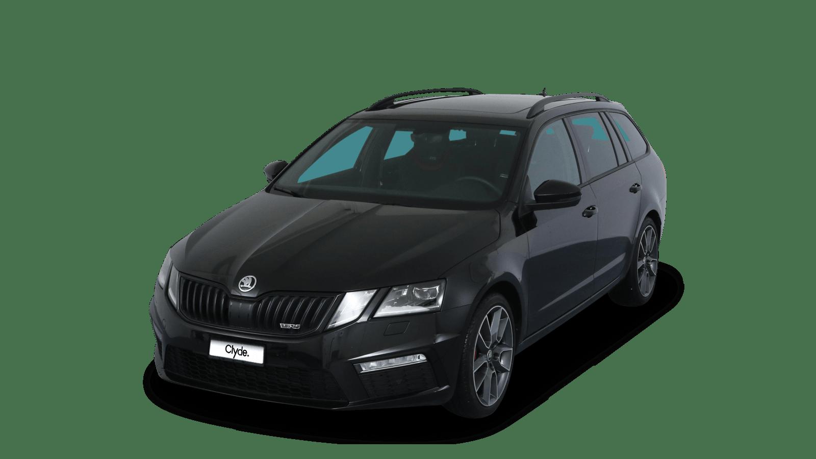 ŠKODA Octavia Combi RS Schwarz front - Clyde Auto-Abo