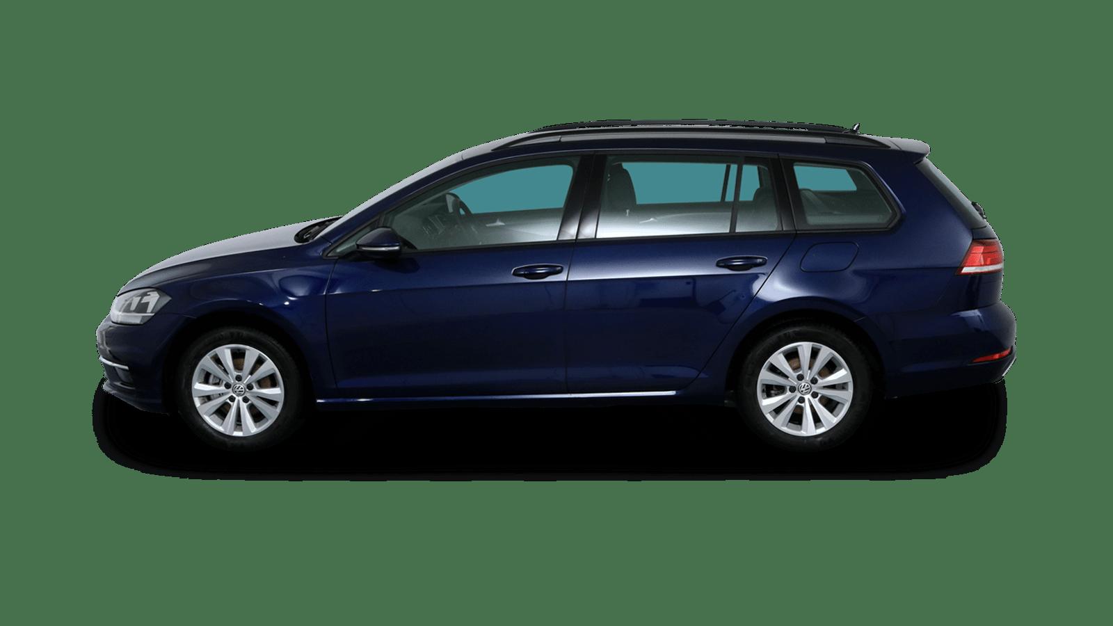 VW Golf Variant Blue back - Clyde car subscription