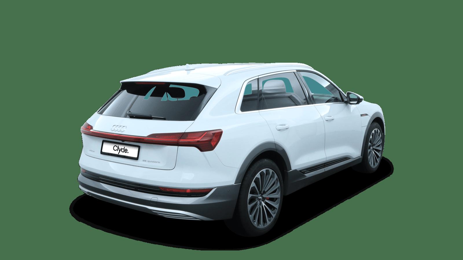 Audi e-tron 55 quattro Weiss rückansicht - Clyde Auto-Abo