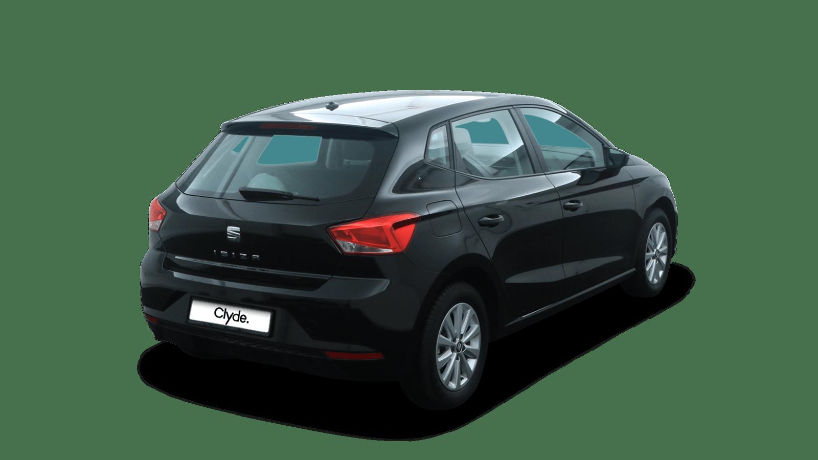 SEAT Ibiza Schwarz rückansicht - Clyde Auto-Abo