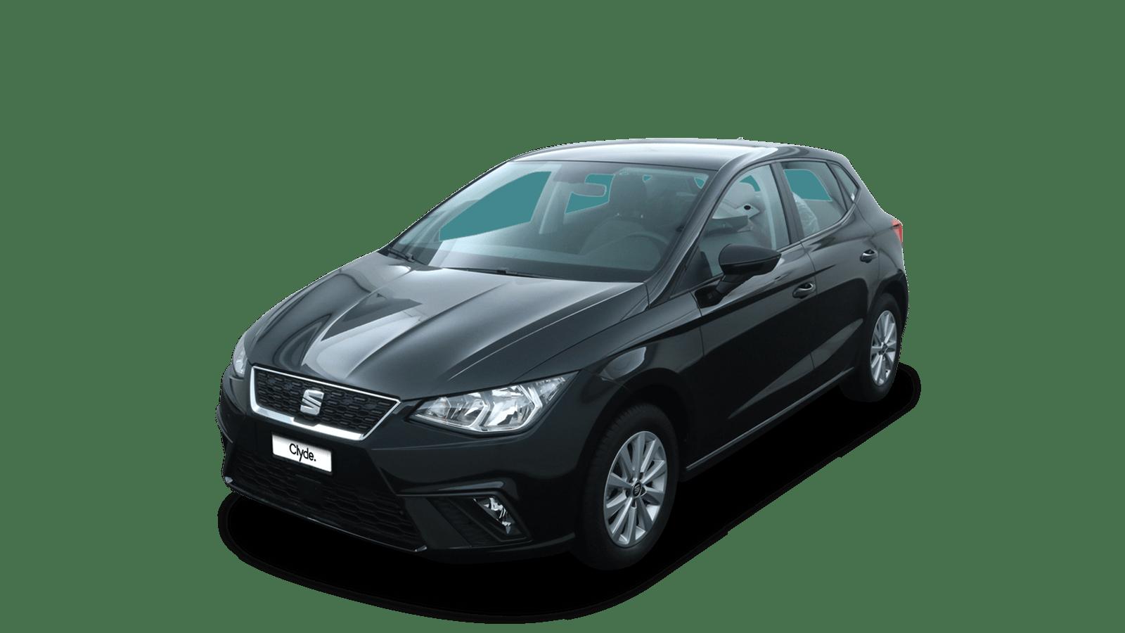 SEAT Ibiza Schwarz front - Clyde Auto-Abo