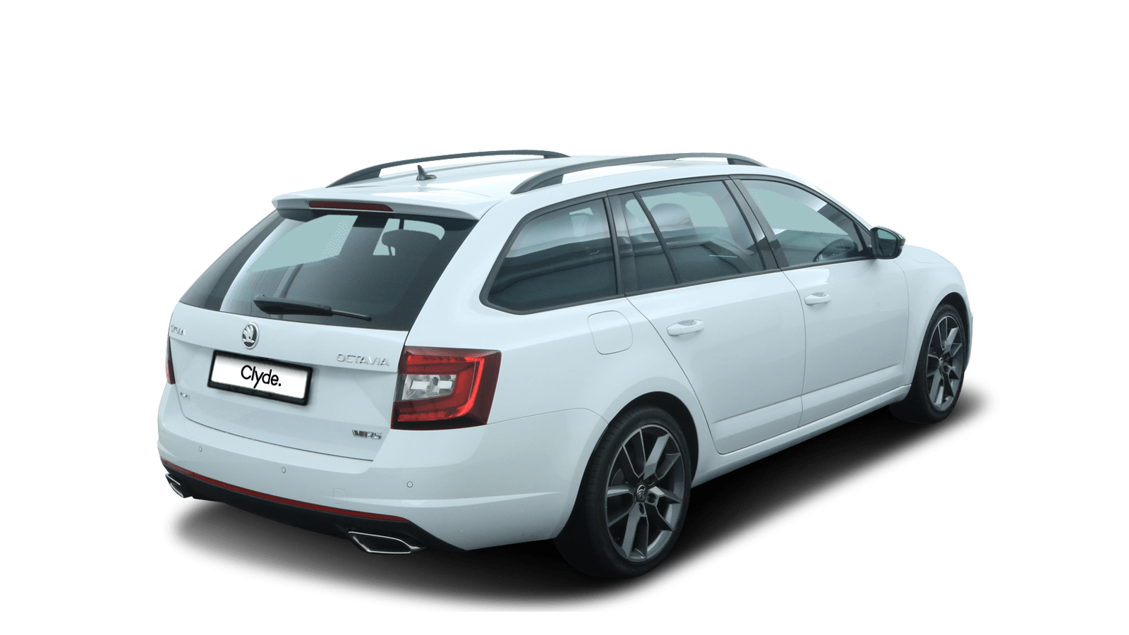 ŠKODA OCTAVIA COMBI RS White back - Clyde car subscription