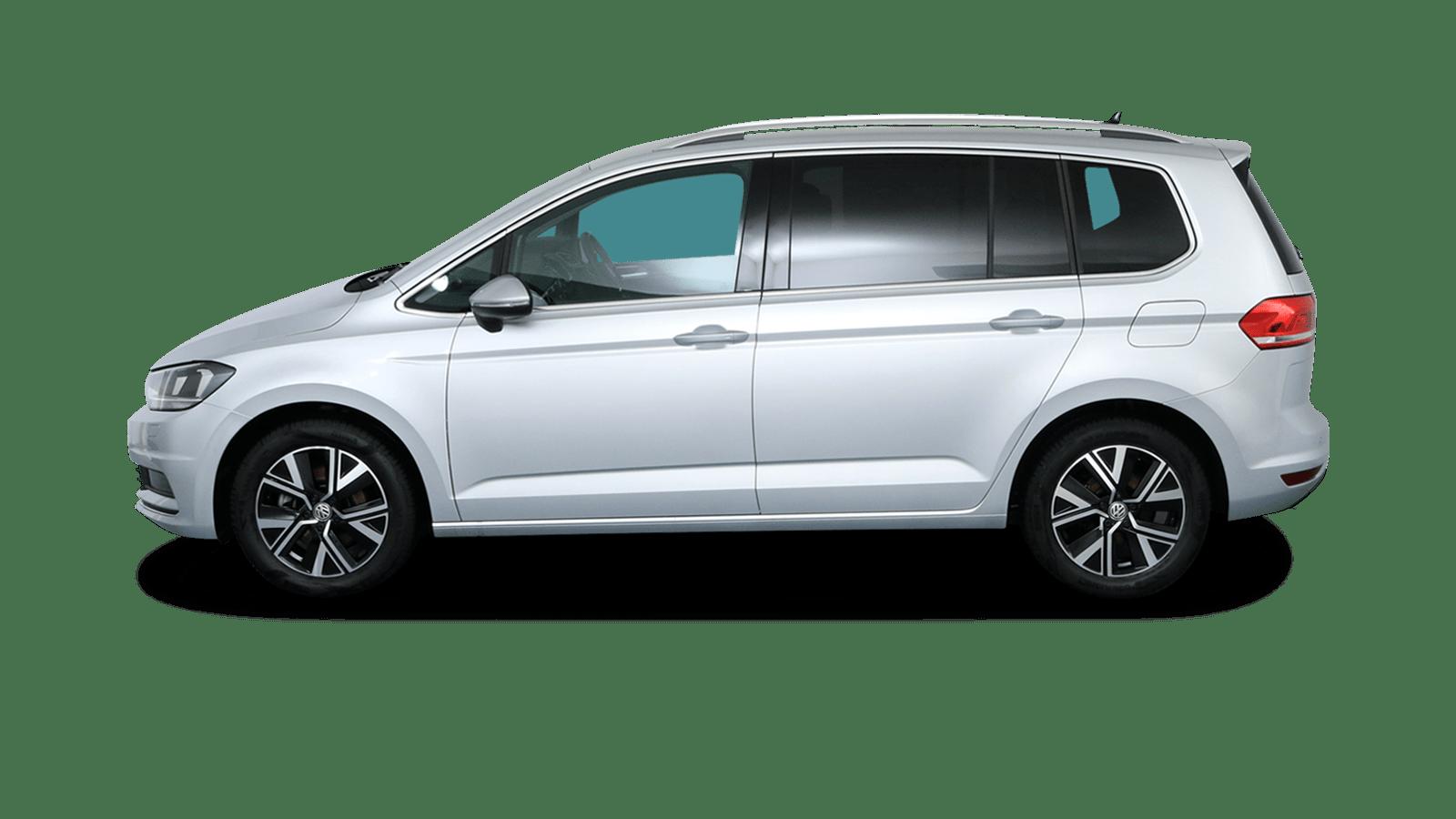 VW Touran Silber rückansicht - Clyde Auto-Abo