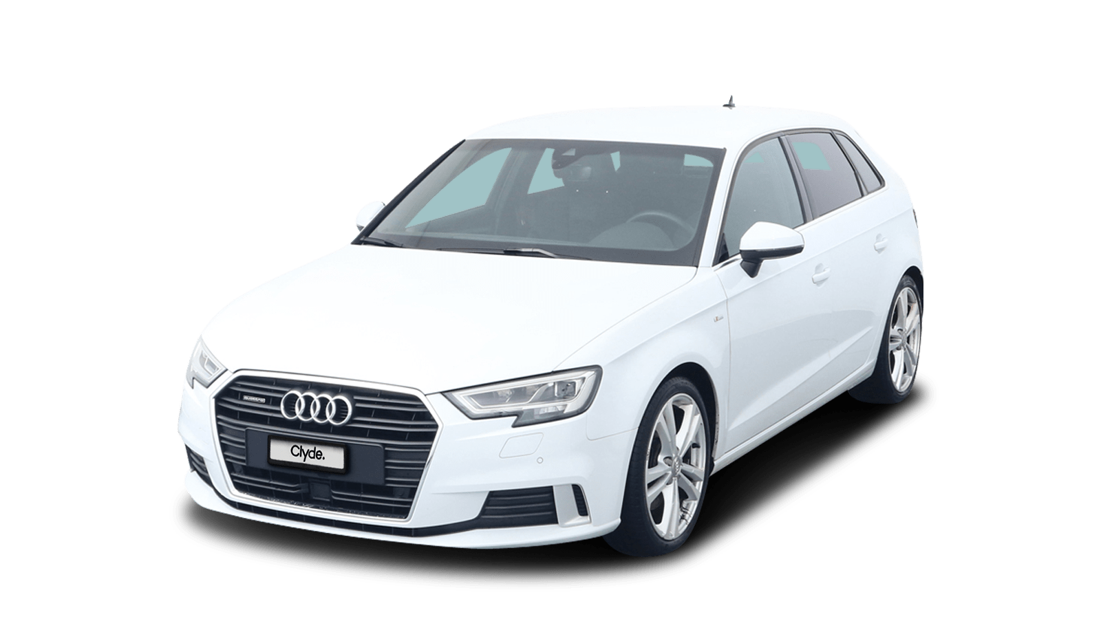 Audi A3 Sportback White front - Clyde car subscription