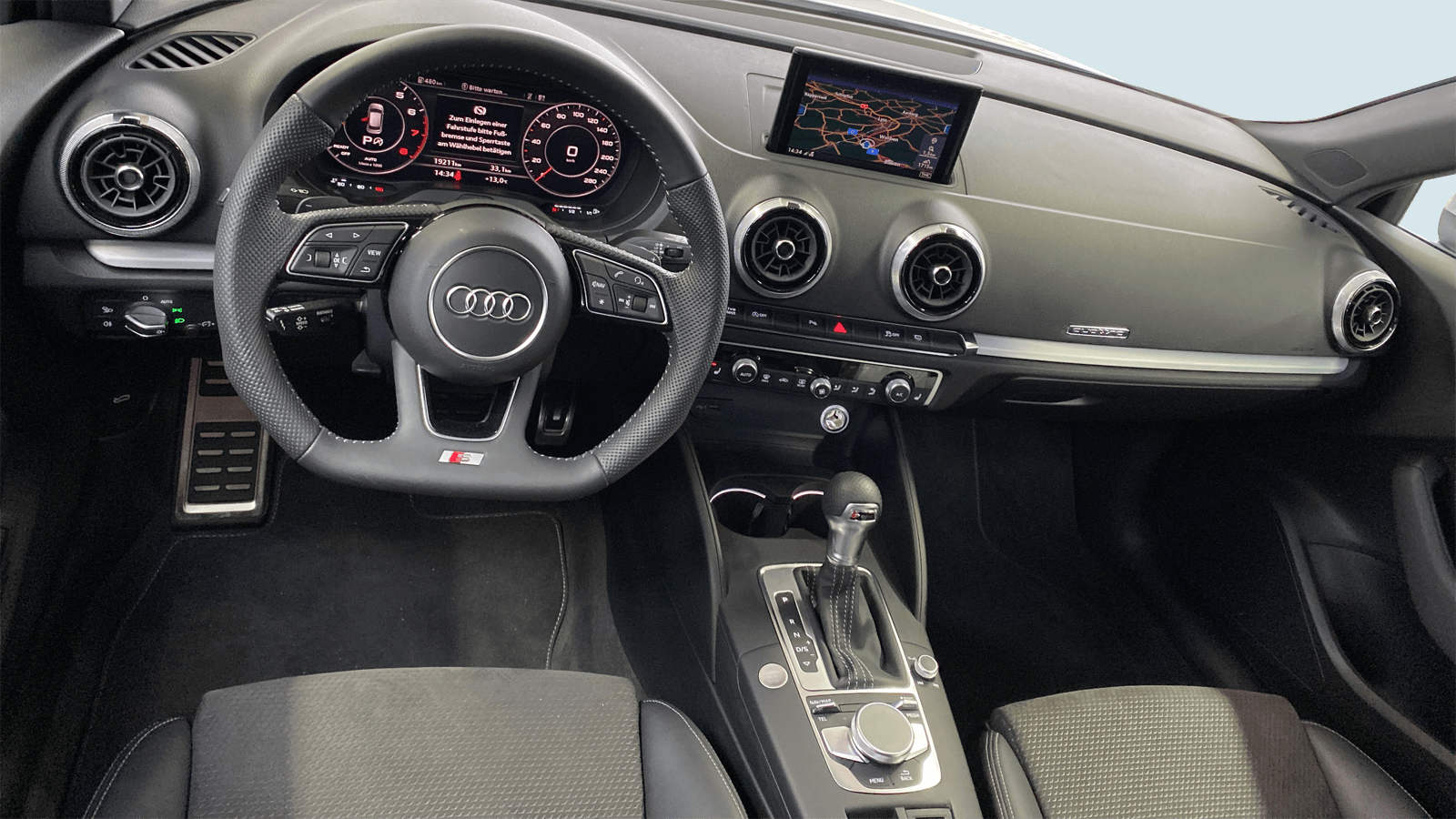 Audi A3 Sportback White interior - Clyde car subscription