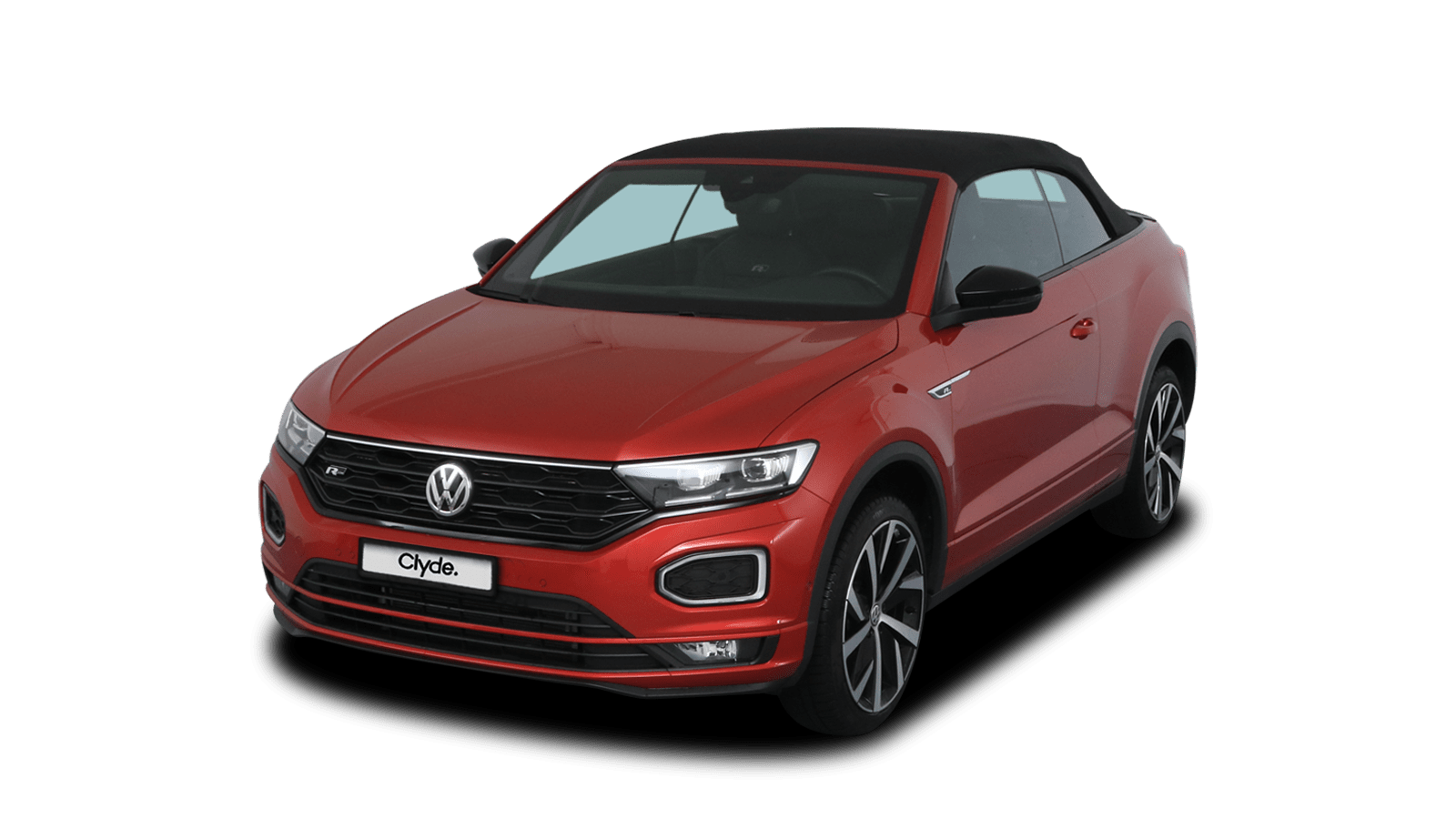 VW T-Roc Cabriolet Red front - Clyde car subscription