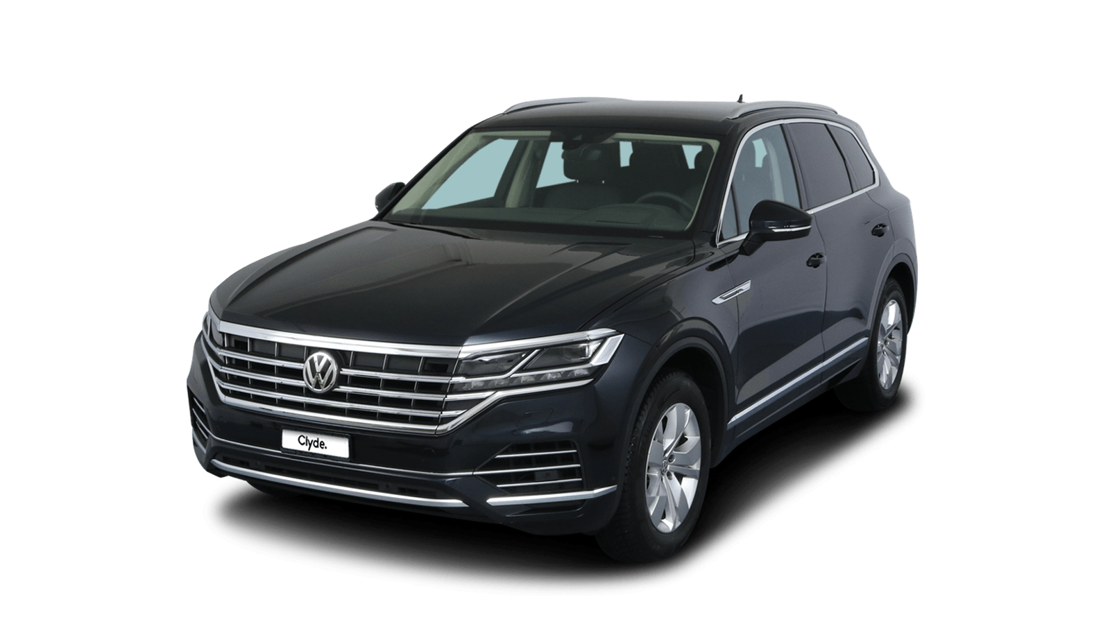 VW Touareg Blue front - Clyde car subscription