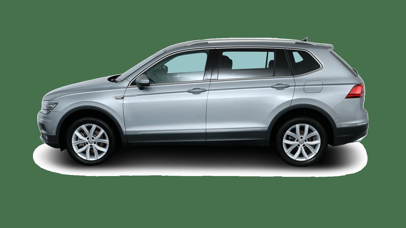VW Tiguan Allspace Silber rückansicht - Clyde Auto-Abo