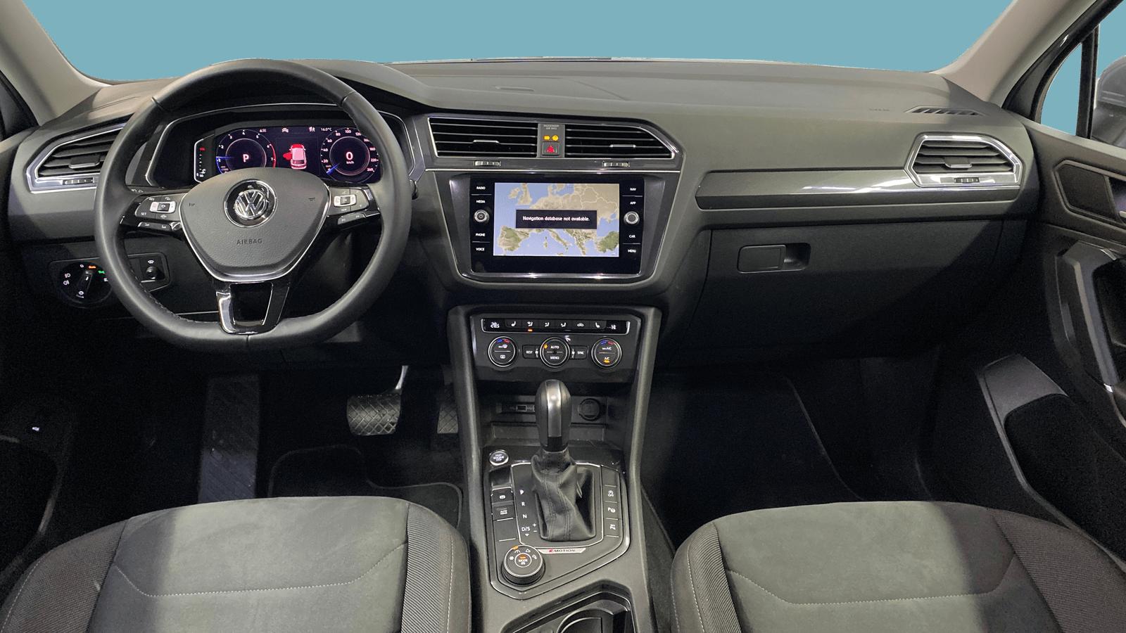VW Tiguan Allspace Silver interior - Clyde car subscription