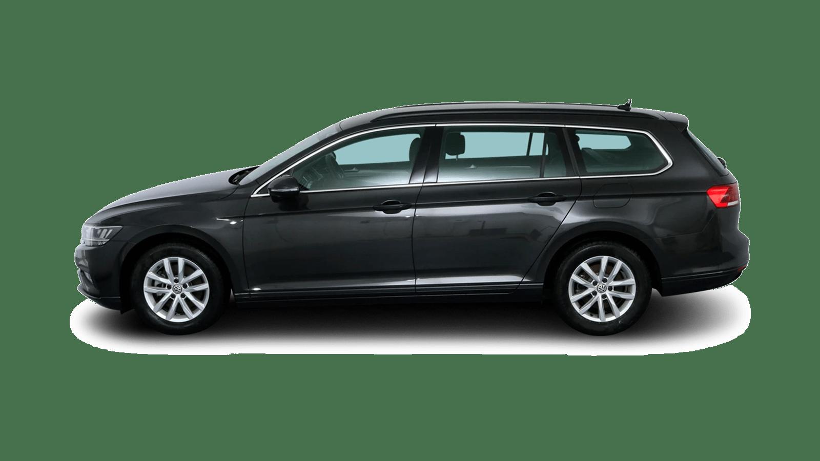 VW Passat Variant Grau rückansicht - Clyde Auto-Abo