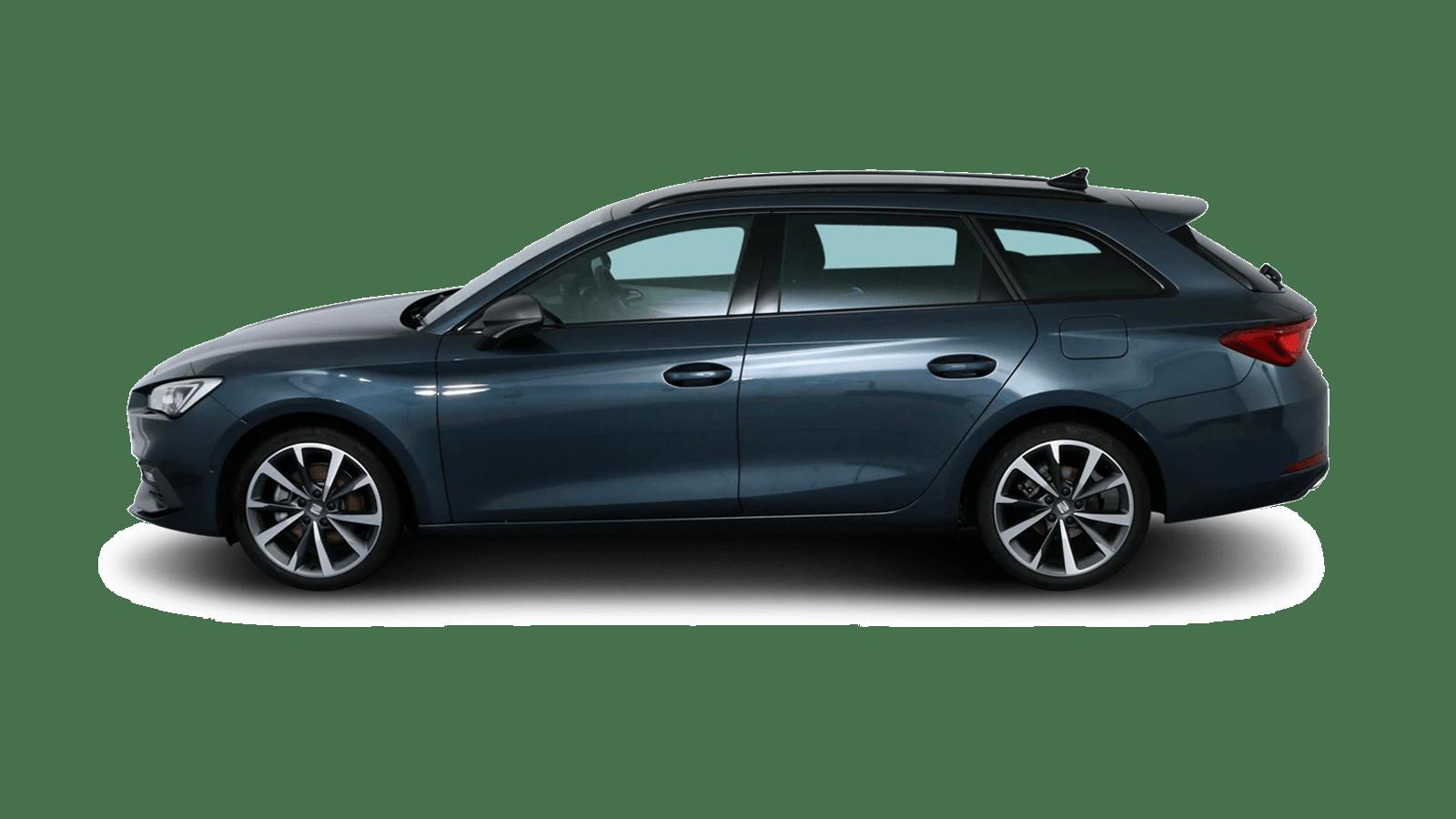 SEAT Leon Sportstourer Grau rückansicht - Clyde Auto-Abo
