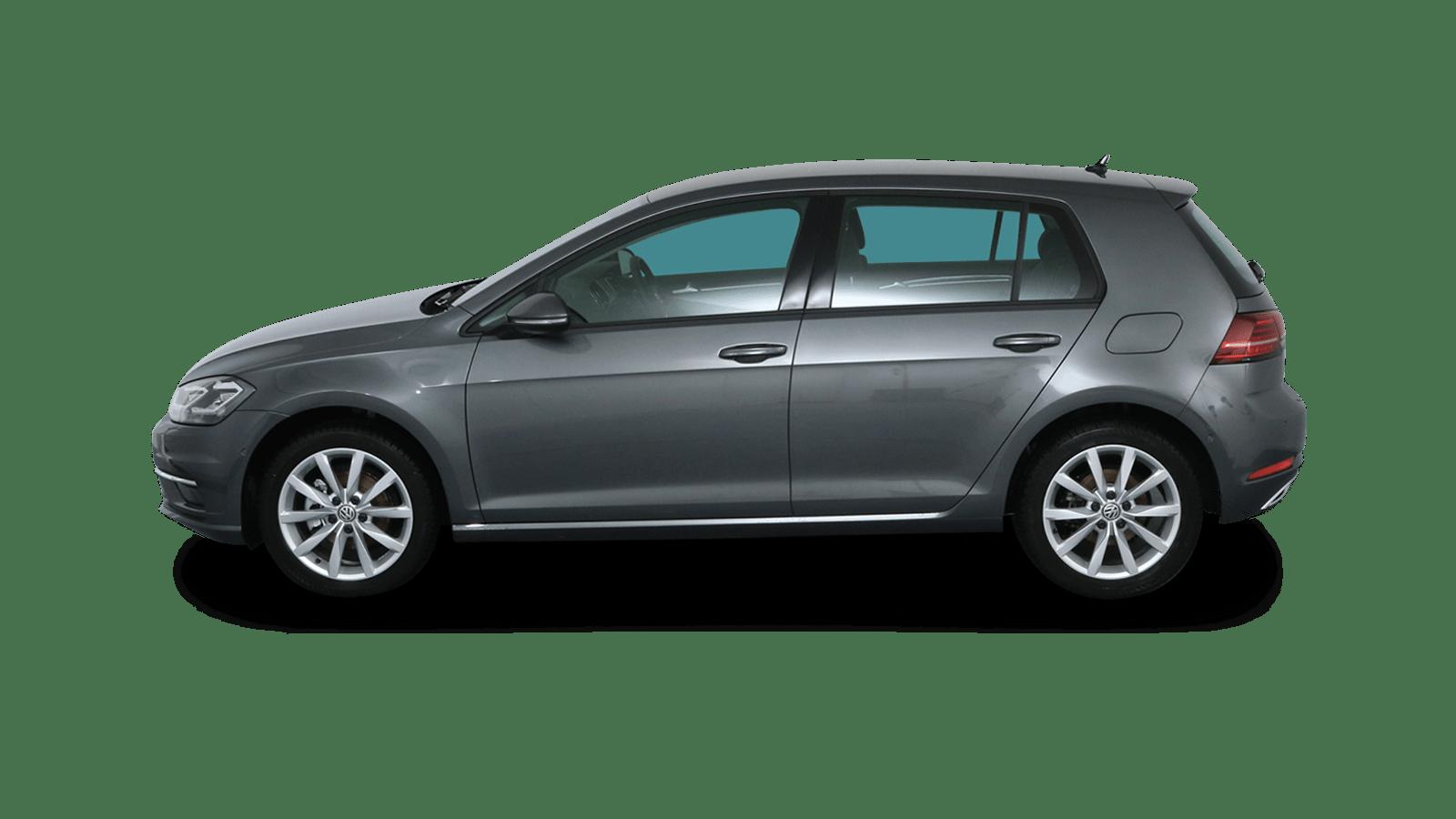 VW Golf Grau rückansicht - Clyde Auto-Abo