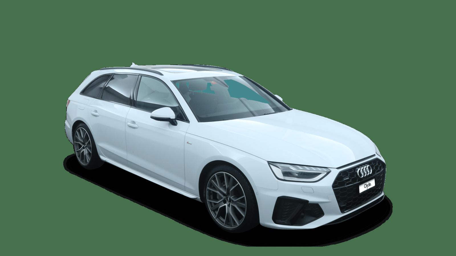 Audi A4 Avant White front - Clyde car subscription