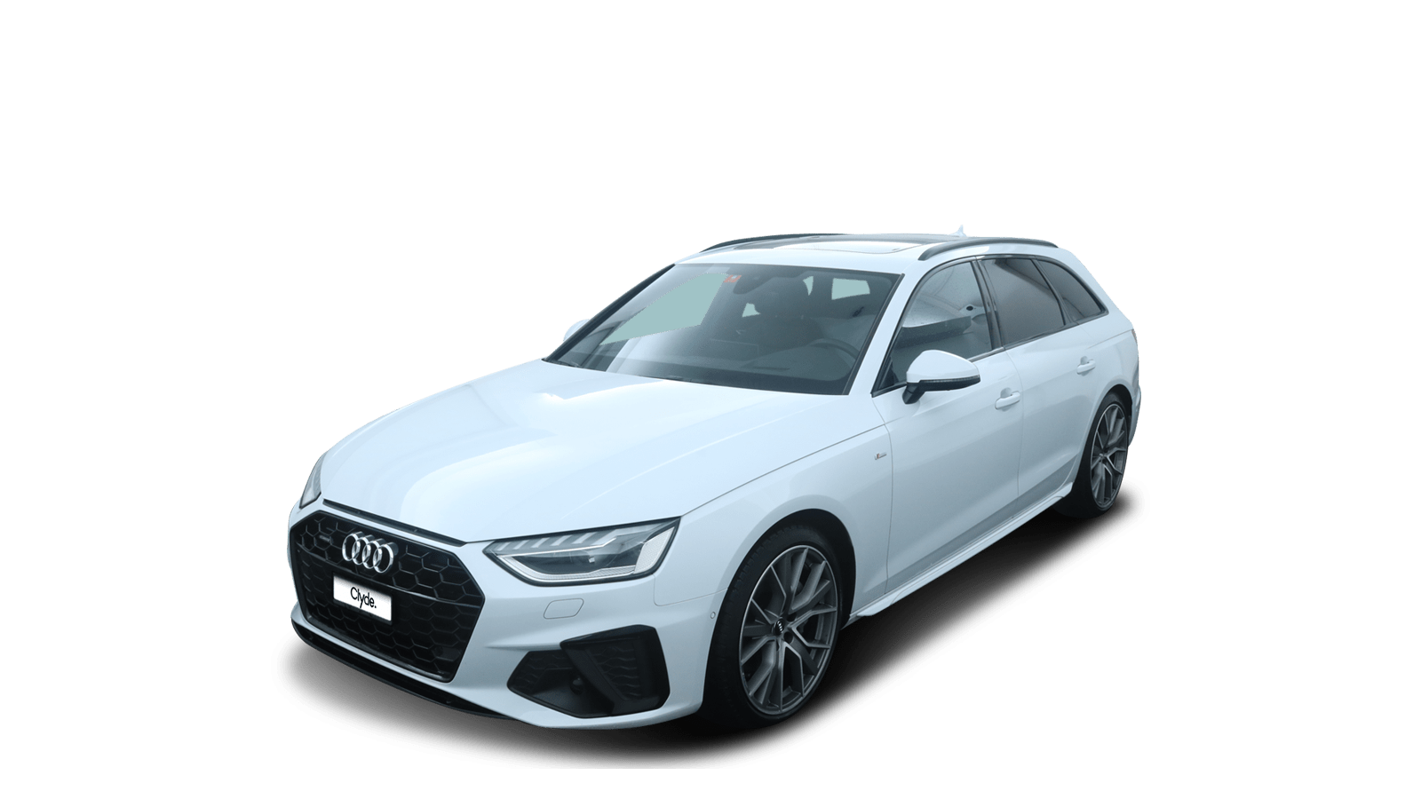 Audi A4 Avant Weiss front - Clyde Auto-Abo