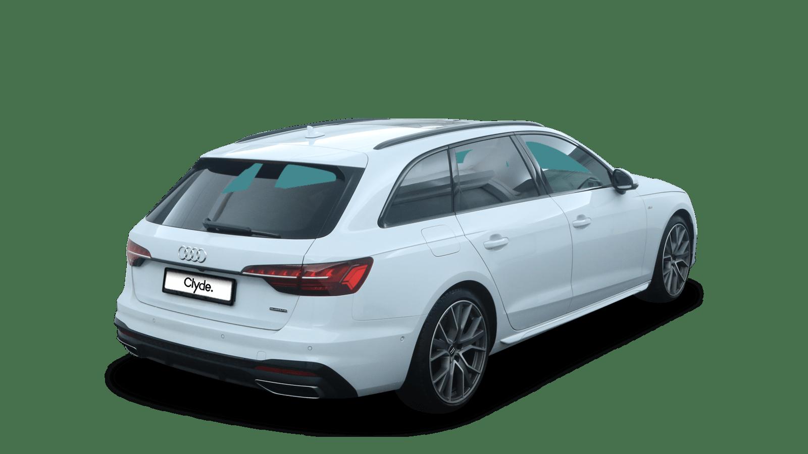 Audi A4 Avant Weiss rückansicht - Clyde Auto-Abo