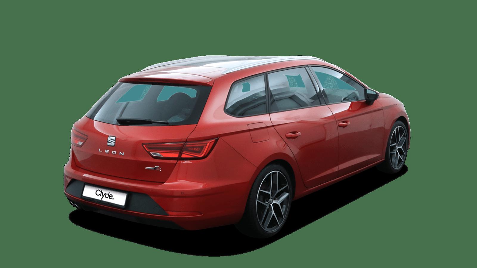 SEAT Leon Rot rückansicht - Clyde Auto-Abo