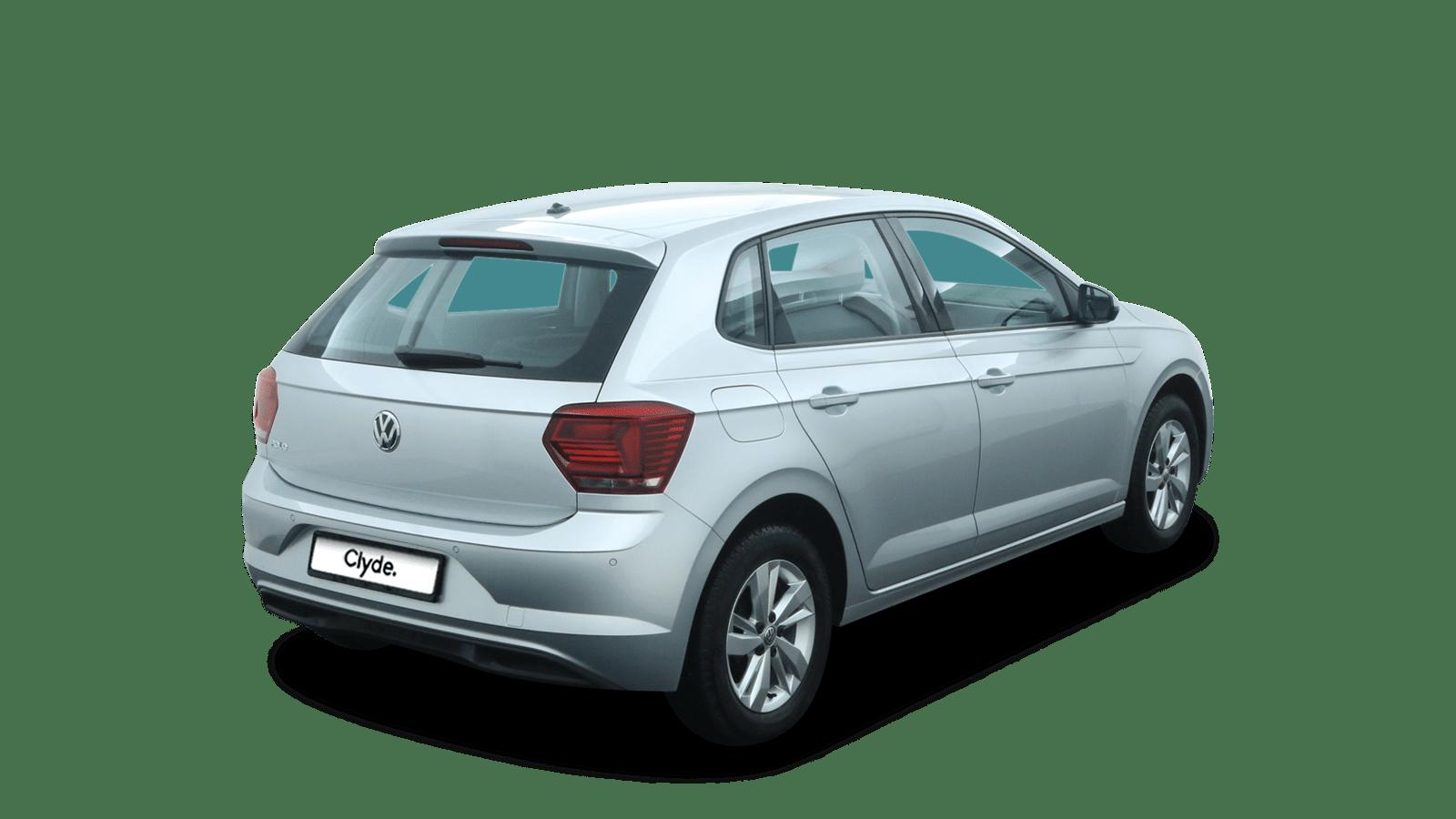VW Polo Silber rückansicht - Clyde Auto-Abo